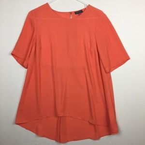 Vince Camuto Orange Loose Fit Top